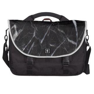 Grano de piedra de mármol negro/textura bolsas de ordenador