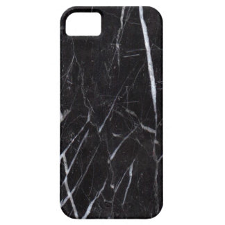 Grano de piedra de mármol negro/textura iPhone 5 Case-Mate cárcasa