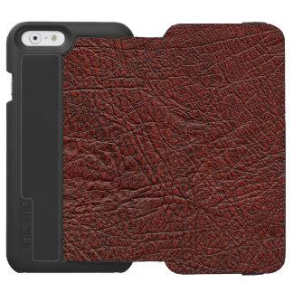 Grano fino del cuero de la sangre del buey quemado funda billetera para iPhone 6 watson