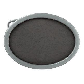 Grano negro de madera de la mirada de la corteza hebilla de cinturon oval