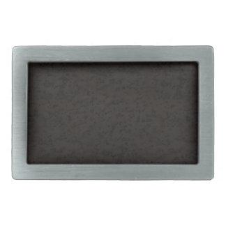 Grano negro de madera de la mirada de la corteza hebilla de cinturón rectangular