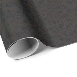 Grano negro de madera de la mirada de la corteza papel de regalo