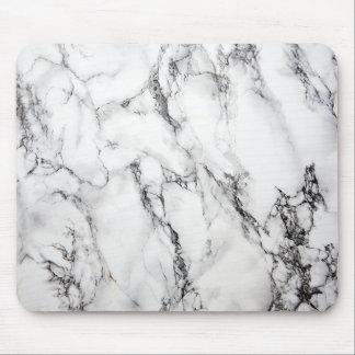 Grano negro de piedra de mármol gris tapete de ratón