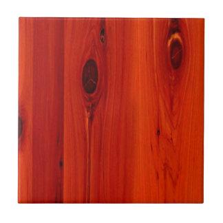Grano rojo de madera de la cereza de la tonalidad azulejo cuadrado pequeño