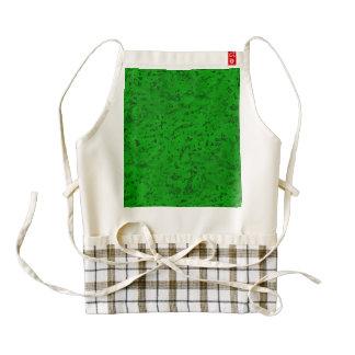 Grano verde de neón brillante de madera de la delantal zazzle HEART