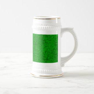 Grano verde de neón brillante de madera de la jarra de cerveza