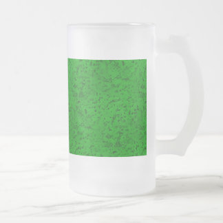 Grano verde de neón brillante de madera de la taza de cristal