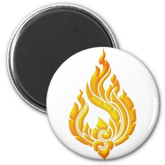 Granok Flames 2 Inch Round Magnet