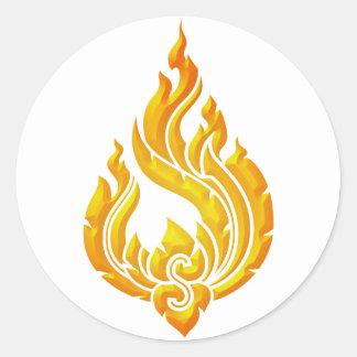Granok Flames Classic Round Sticker