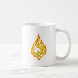 Granok Flames Classic White Coffee Mug
