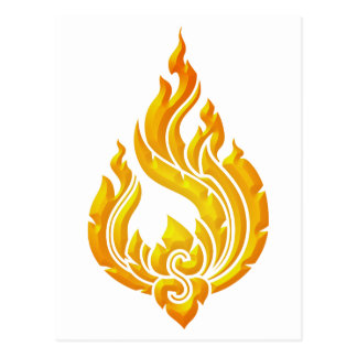 Granok Flames Postcard