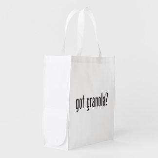 granola conseguido bolsa reutilizable
