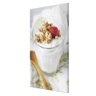 Granola, Oats, Toasted, Fruit, Berry, Raspberry, Canvas Print