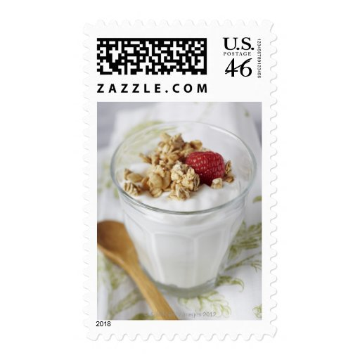 Granola, Oats, Toasted, Fruit, Berry, Raspberry, Stamp