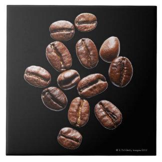 Granos de café asados teja