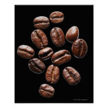Granos de café asados impresiones