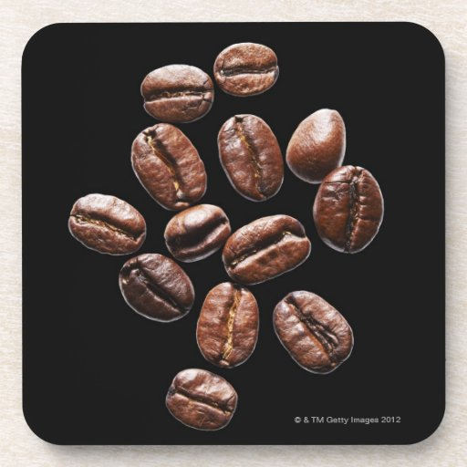 Granos de café asados posavasos