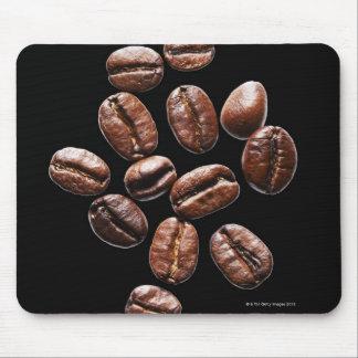 Granos de café asados tapetes de ratones