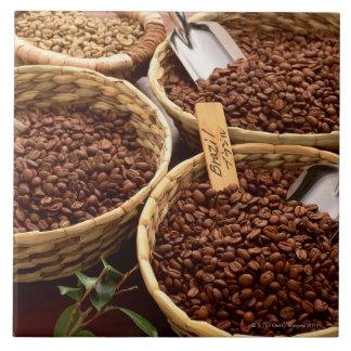 Granos de café azulejos