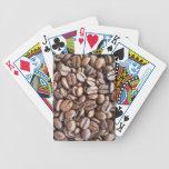 Granos de café baraja de cartas