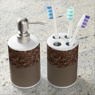Granos de café vasos para cepillos de dientes