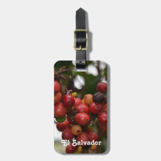 Granos de café de El Salvador Etiqueta Para Maleta