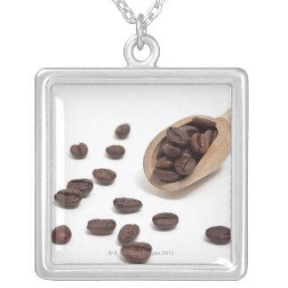 granos de café de la carne asada con la cucharada pendiente personalizado