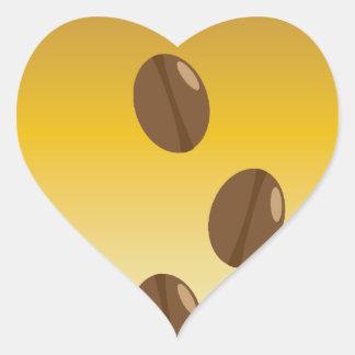 granos de café del pegatina del café del amor