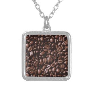 Granos de café deliciosos frescos de Brown Colgante Cuadrado