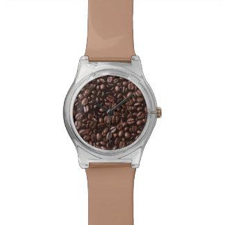Granos de café deliciosos frescos de Brown Relojes