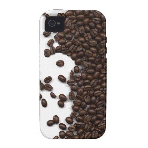 Granos de café derramados Case-Mate iPhone 4 carcasa