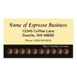 Granos de café divertidos de la tarjeta de sacador tarjetas de visita