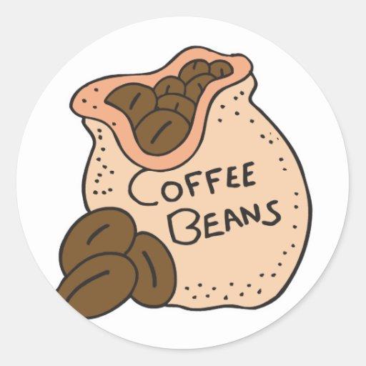 granos de café etiquetas