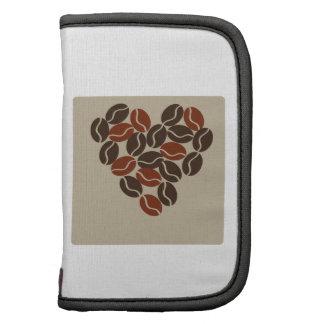 Granos de café planificadores