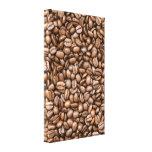 Granos de café impresión en lona estirada