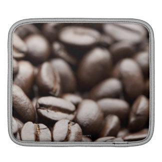 Granos de café orgánicos de la montaña púrpura de  mangas de iPad