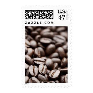 Granos de café orgánicos de la montaña púrpura de sellos