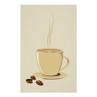 Granos de café impresiones