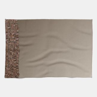 Granos de café toalla