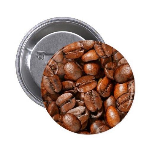 Granos de café pin redondo 5 cm