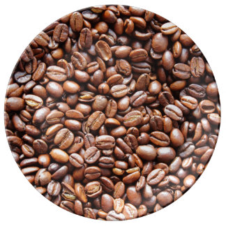 Granos de café plato de cerámica