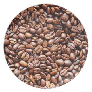 Granos de café platos