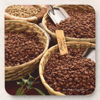 Granos de café posavasos