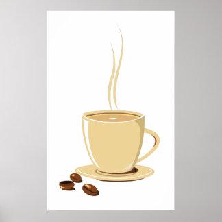 Granos de café póster