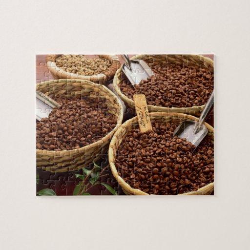 Granos de café puzzle con fotos