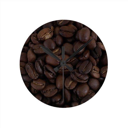 Granos de café relojes
