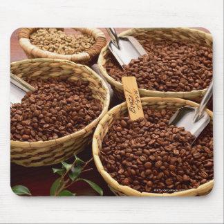 Granos de café alfombrillas de ratón
