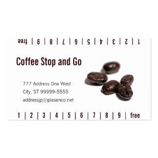 Granos de café tarjetas de visita