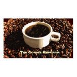Granos de café tarjeta de visita