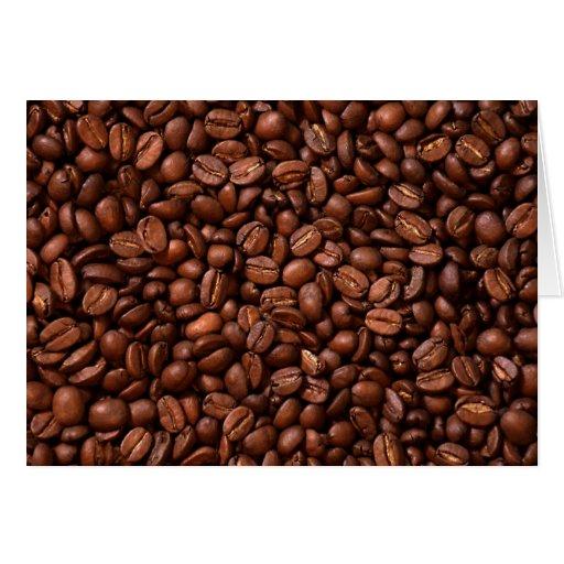 Granos de café tarjetas
